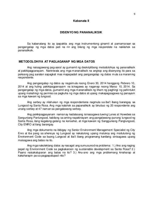 halimbawa ng acknowledgement sa tagalog thesis