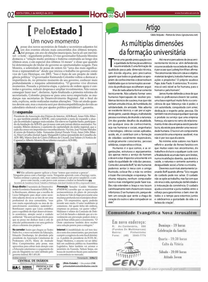 02   SEXTA-FEIRA, 2 de MARÇO de 2012                                                                    www.horadosul.com....