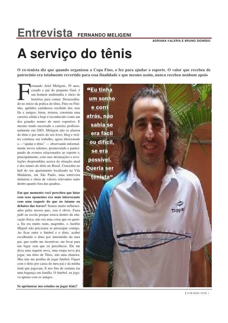 Entrevista                                   FERNANDO MELIGENI                                                            ...