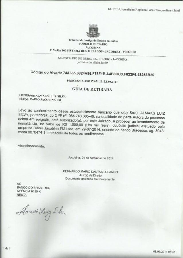 ñle: /// Cz/ Users/ tfreire/ AppData/ Local/ Temp/ onIine-4.html     Tribunal de Justiça do Estado da Bahia PODER JUDICIÁR...