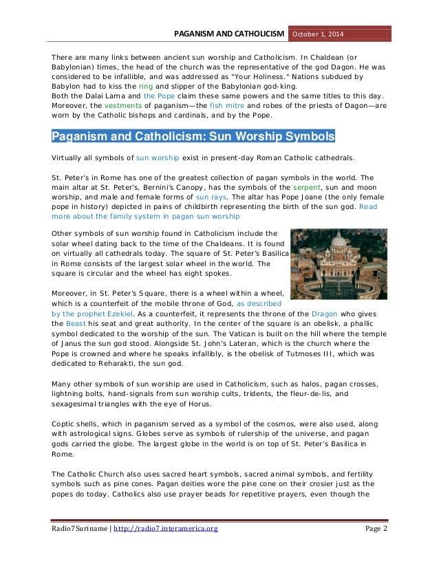 Paganism And Catholicism Close Friends