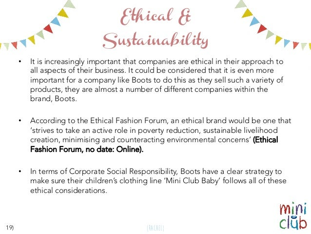 Mini Club Garment Specification Portfolio University Project