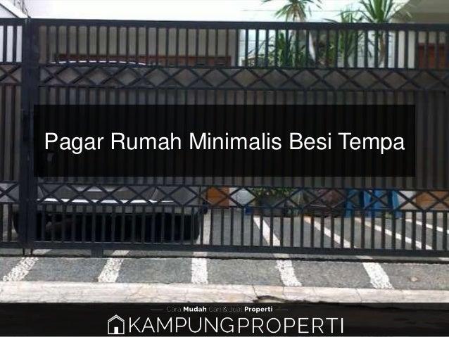 Jual Distributor Supplier Pabrik Pagar Rumah Minimalis