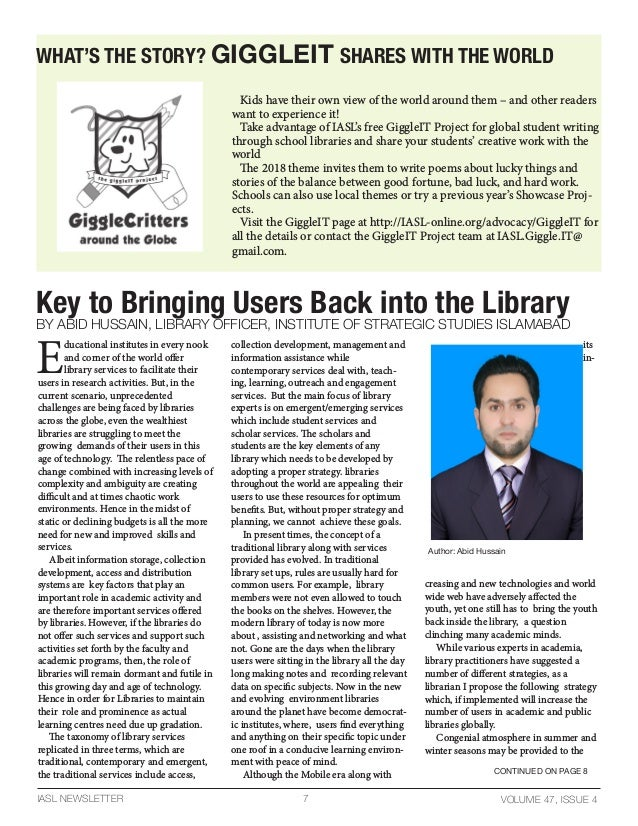 Key to bringing users back into the library