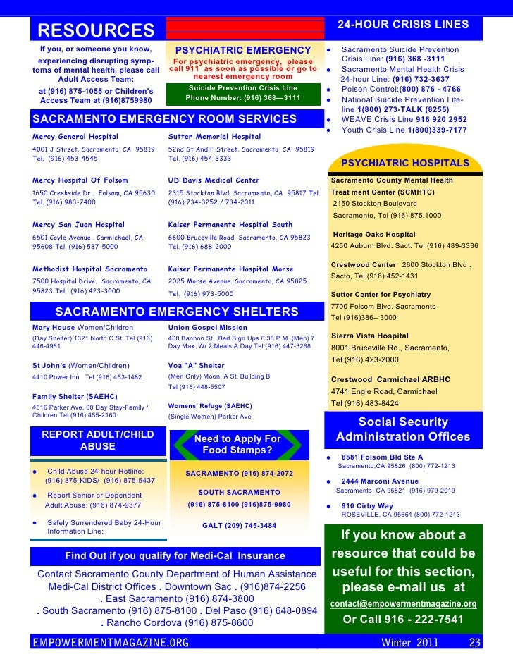 24-HOUR CRISIS LINES RESOURCES  If you, or someone you know,               PSYCHIATRIC EMERGENCY                          ...