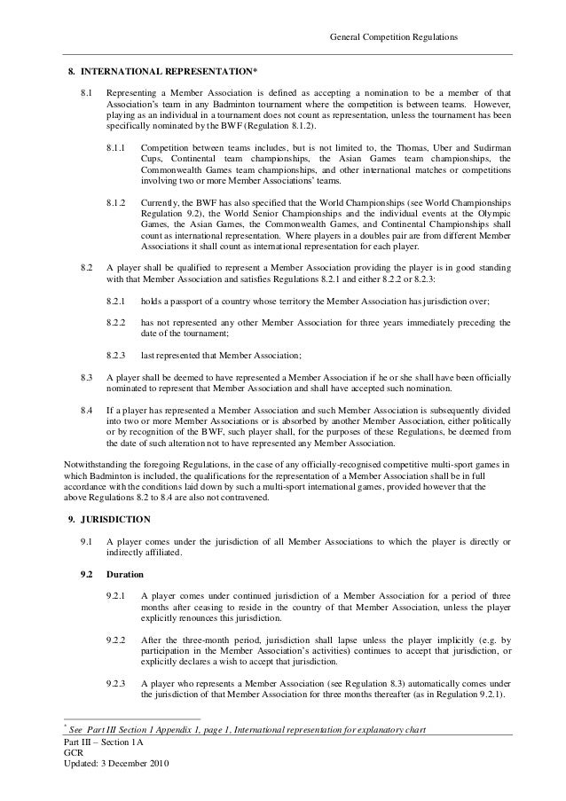 page general competition regulations 8