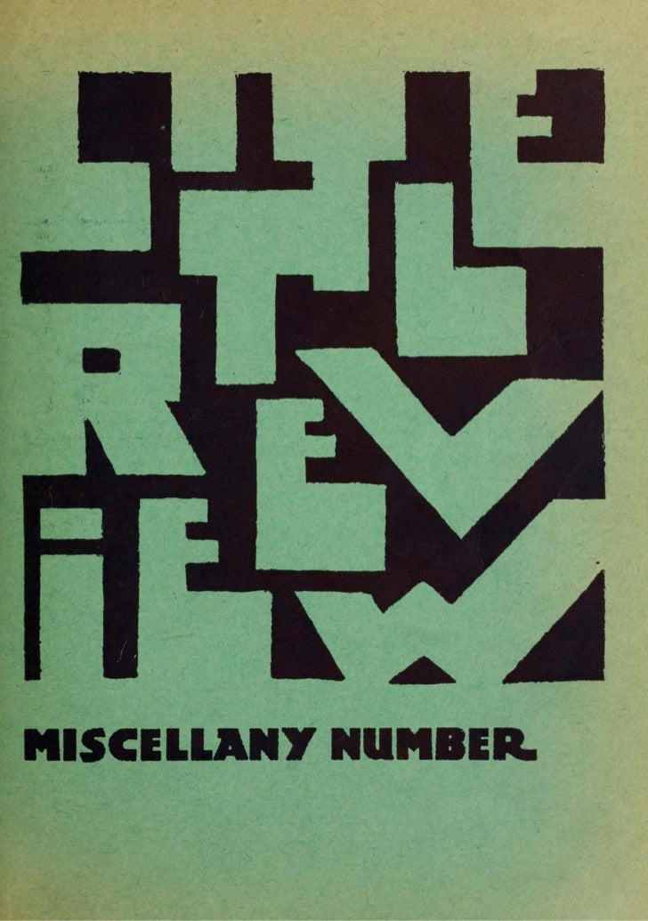 MISCELLANY NUMBER.