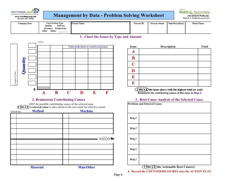 Page 7 Problem Solving Worksheet Blank on Home Improvement Worksheet