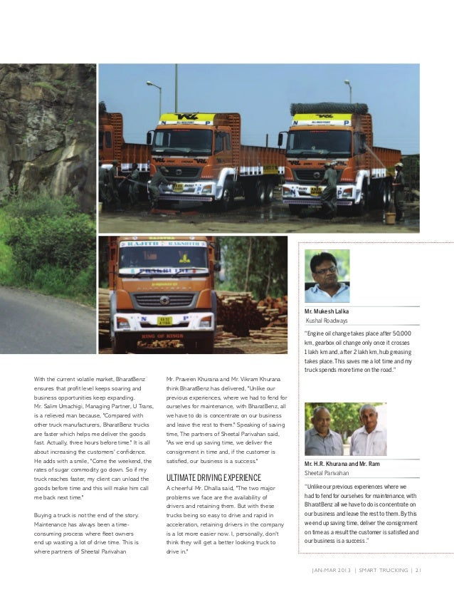 Genex Logistics Got Covered in BharatBenz (On page no  8, 14