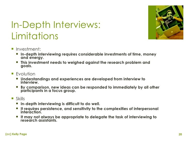 Depth Interviews in Applied Marketing Research
