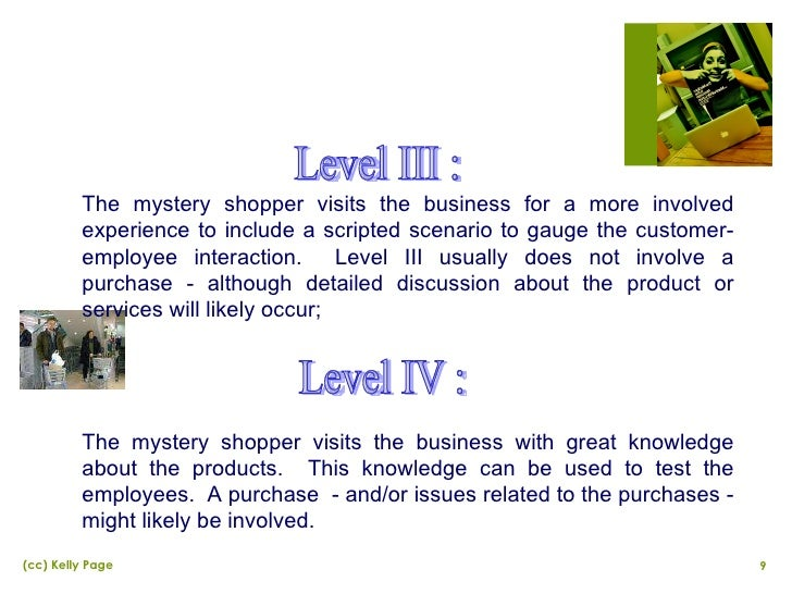 Mystery shopping essay