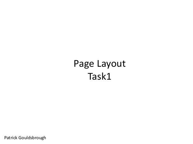 Page Layout Task1 Patrick Gouldsbrough