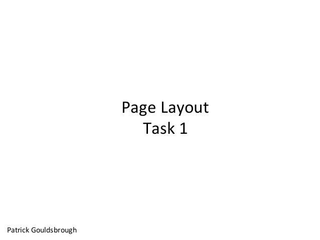 Page Layout Task 1 Patrick Gouldsbrough