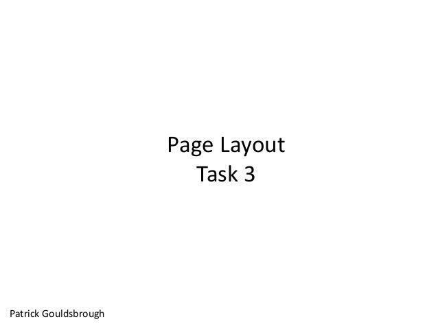 Page Layout Task 3 Patrick Gouldsbrough
