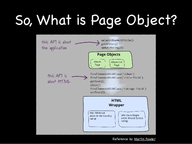 The advantage of Page Object Easy to maintain Easy to read code Reduce Duplicate code