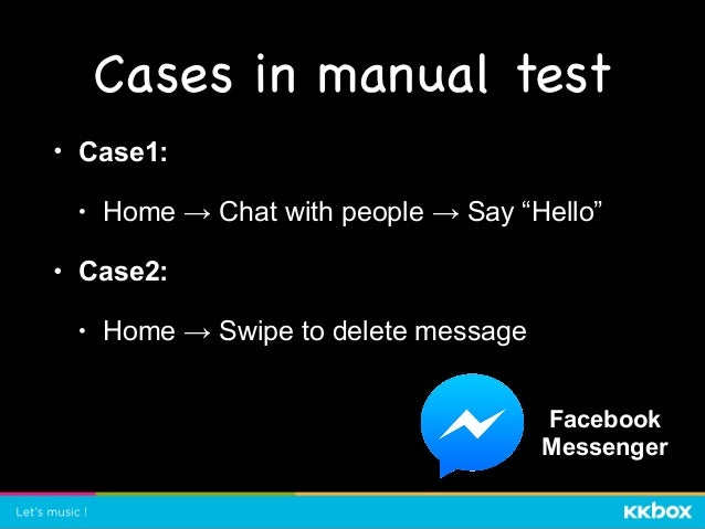 Cases in automation test
