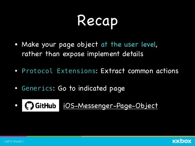 Q & A • Q: 那你怎麼 guarantee 說你的 page object 是沒有問題的。  • A: (Nadia) 我覺得這個問題感覺像是說,你怎麼確定你寫的測試是正確的? (對) 但是,既然我們寫了 ⾃動化測試,我們就要對它有⼀定...