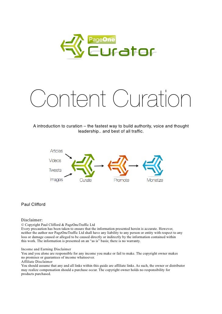 !      Content Curation     !         !        !        A introduction to curation – the fastest way to build authority, v...