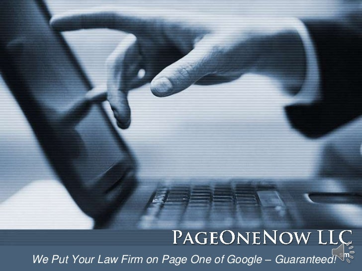 smWe Put Your Law Firm on Page One of Google – Guaranteed!