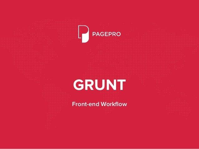 GRUNT Front-end Workflow