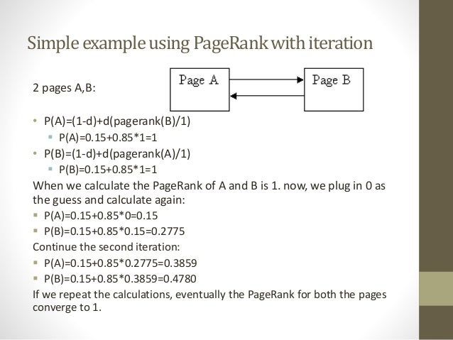 pagerank algorithm Of the graph, not of the particular algorithm used to compute pagerank the convergence rate is governed by the difference between the first and.