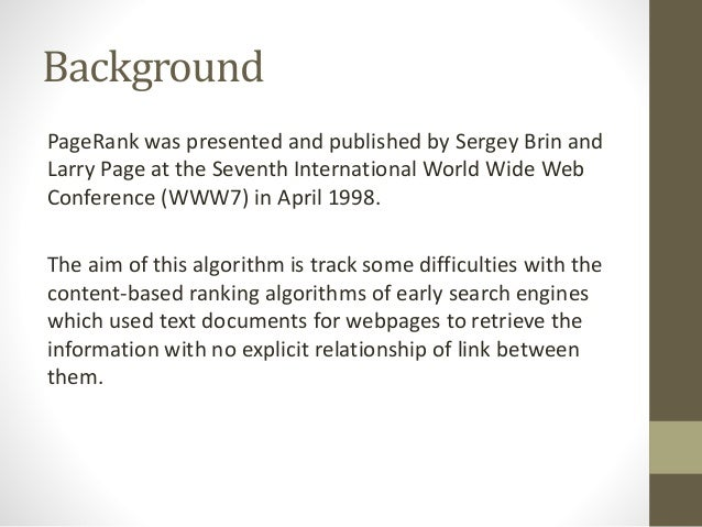 PageRank Algorithm In data mining Slide 3