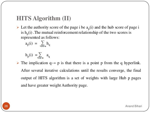Parallelization of pagerank and hits algorithm