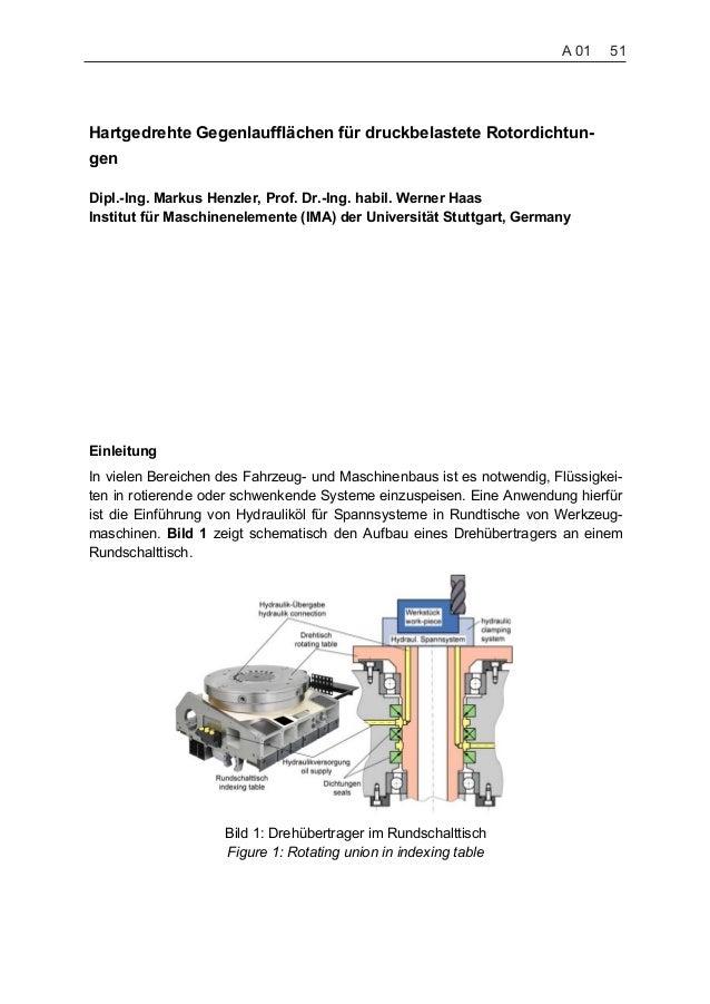 Hartgedrehte Gegenlaufflächen für druckbelastete Rotordichtun- gen Dipl.-Ing. Markus Henzler, Prof. Dr.-Ing. habil. Werner...