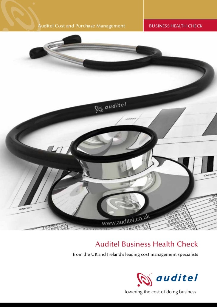 Auditel Cost and Purchase Management               BUSINESS HEALTH CHECK                         Auditel Business Health C...