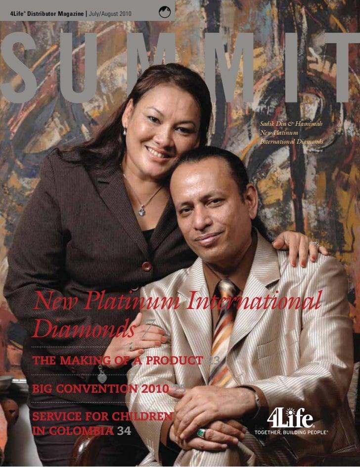 4Life Distributor Magazine | July/August 2010    ®                                                Sadik Din & Hasnimah    ...