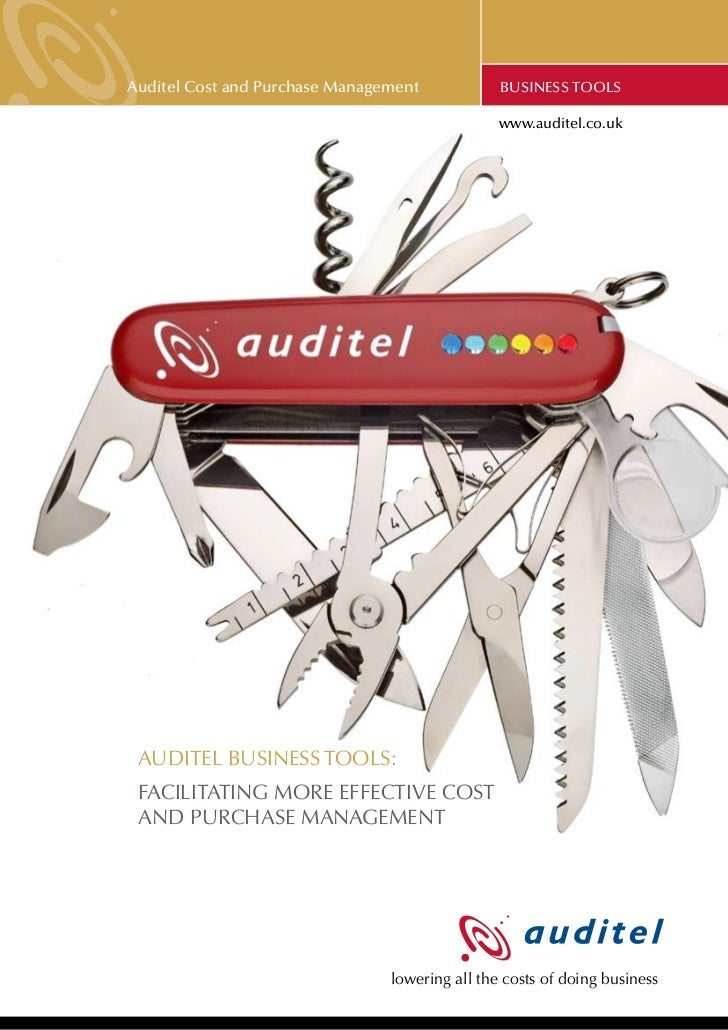 Auditel Cost and Purchase Management            BUSINESS TOOLs                                                www.auditel....