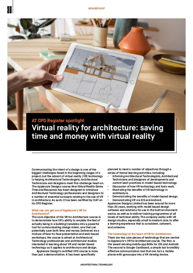 Virtual Reality for Architecture