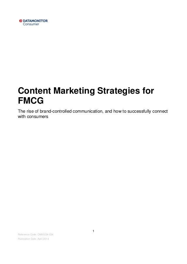 Fmcg strategy
