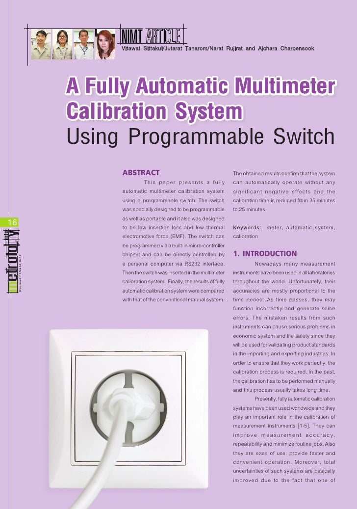 a fully automatic multimeter calibration system rh slideshare net