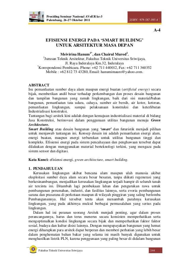 Prosiding Seminar Nasional AVoER ke-3 Palembang, 26-27 Oktober 2011 ISBN : 979-587-395-4 Fakultas Teknik Universitas Sriwi...