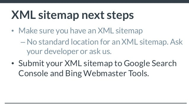 technical seo for the non techie xml sitemap