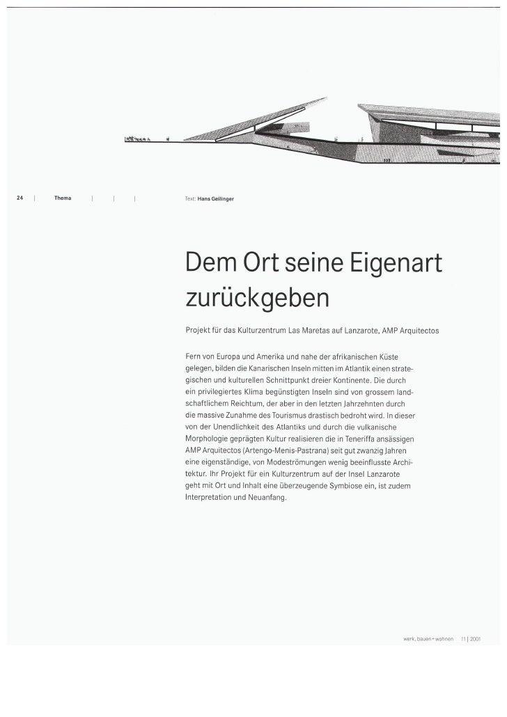 24   Thema   I   I                     Text: Hans   Geilinger                      Dem Ort seine Eigenart                 ...