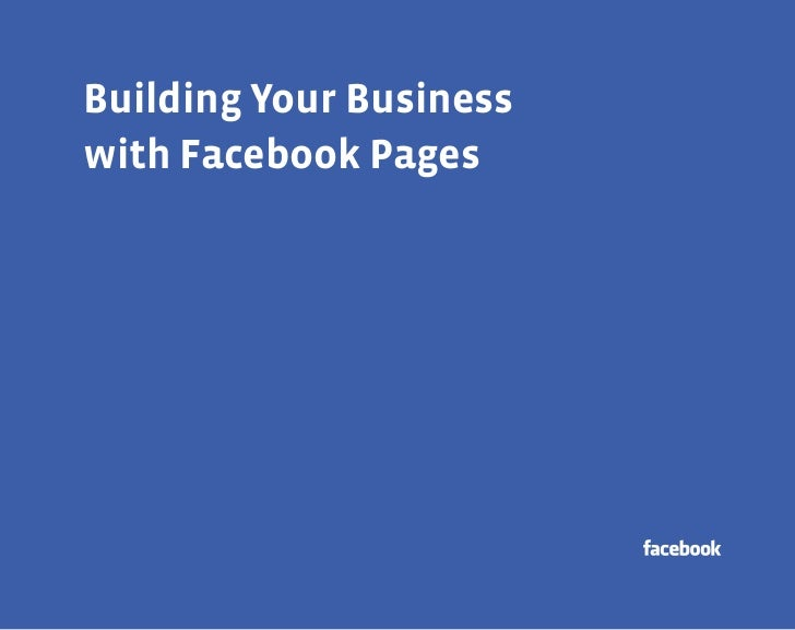 aBuilding Your Businesswith Facebook Pages