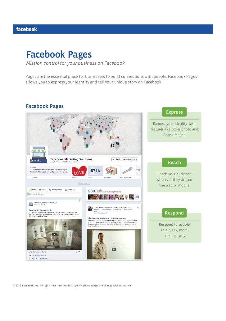 Facebook Pages          Mission control for your business on Facebook          Pages are the essential place for businesse...