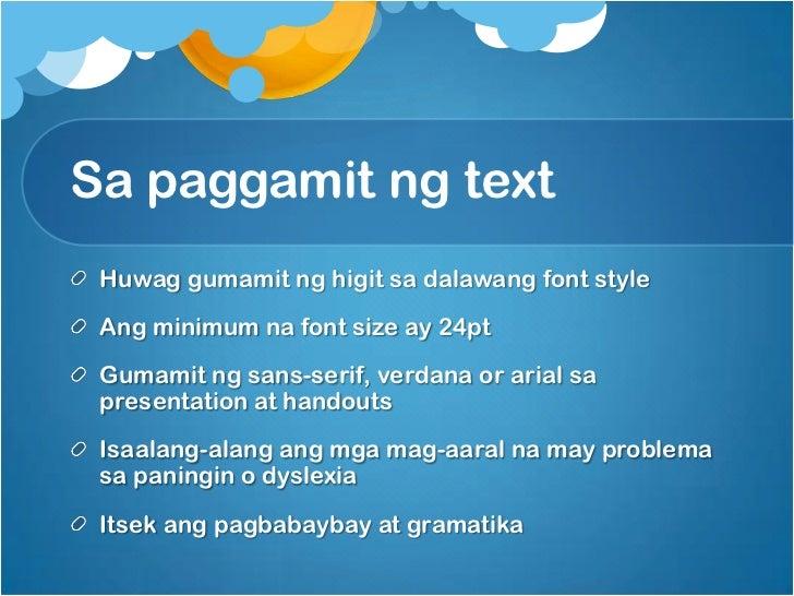 Paggamit Ng Powerpoint Presentation