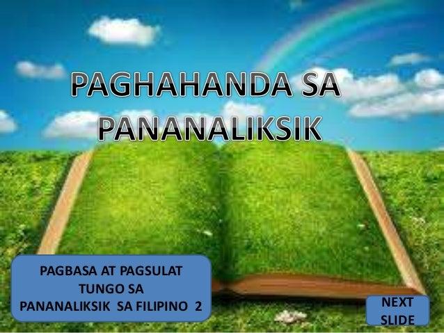 pagbasa at pagsulat tungo sa pananaliksik Filipino 2 has 601 ratings and 40 reviews: published 2005 by lorimar publishing company, inc, 186 pages, paperback.