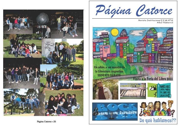 Página Catorce                  Revista Institucional E.E.M.Nº14                                                          ...