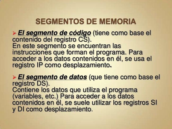 Segmento de Memoria<br />FFFFF<br /> UN SEGMENTO ES UN ÁREA CONTINUA DE MEMORIA QUE PUEDE TENER HASTA 64K-BYTES, QUE DEBE ...