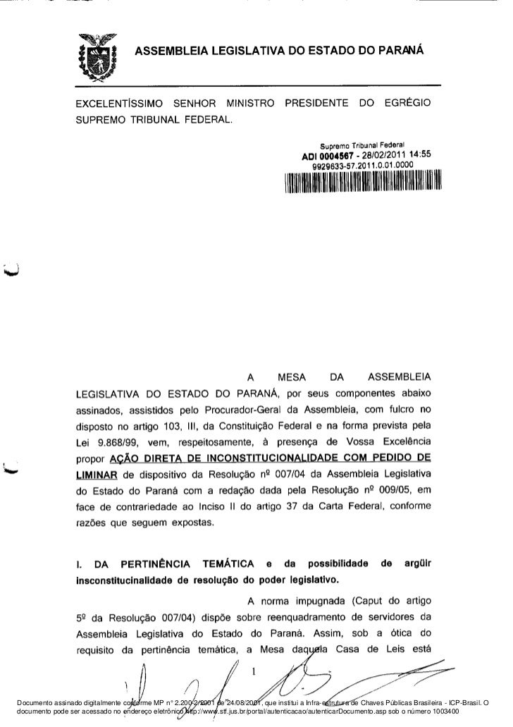 Documento assinado digitalmente conforme MP n° 2.200-2/2001 de 24/08/2001, que institui a Infra-estrutura de Chaves Públic...