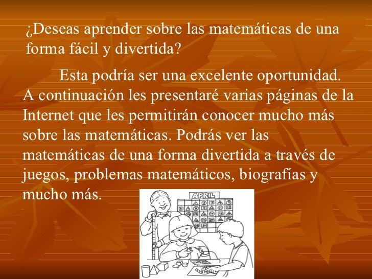 Paginas de matematicas Slide 2