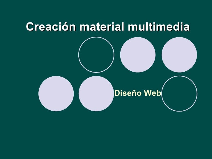 Creación material multimedia Diseño Web