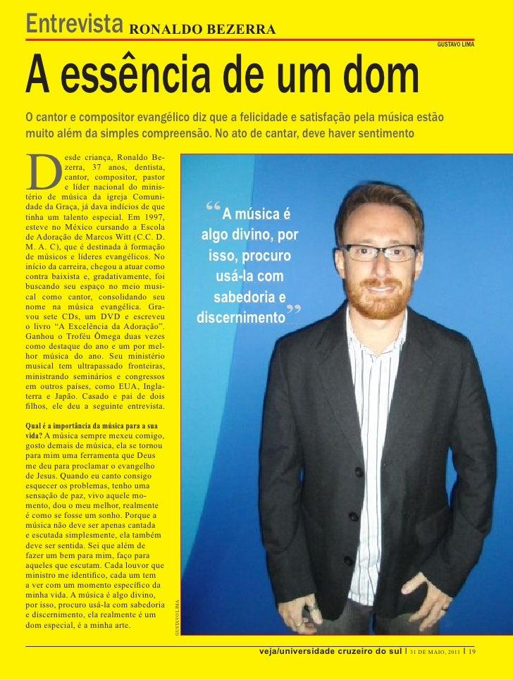Entrevista RONALDO BEZERRAA essência de um dom                                                                            ...