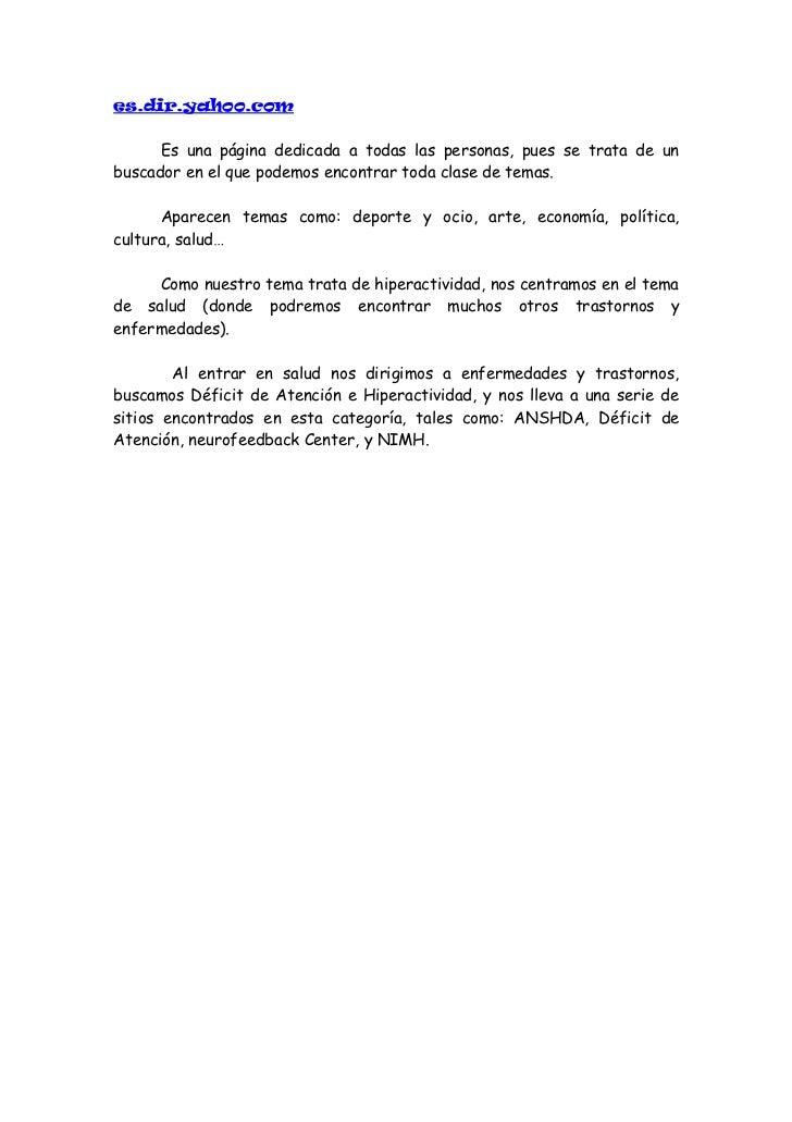 Paginas relacionadas con el tdah (material propio)