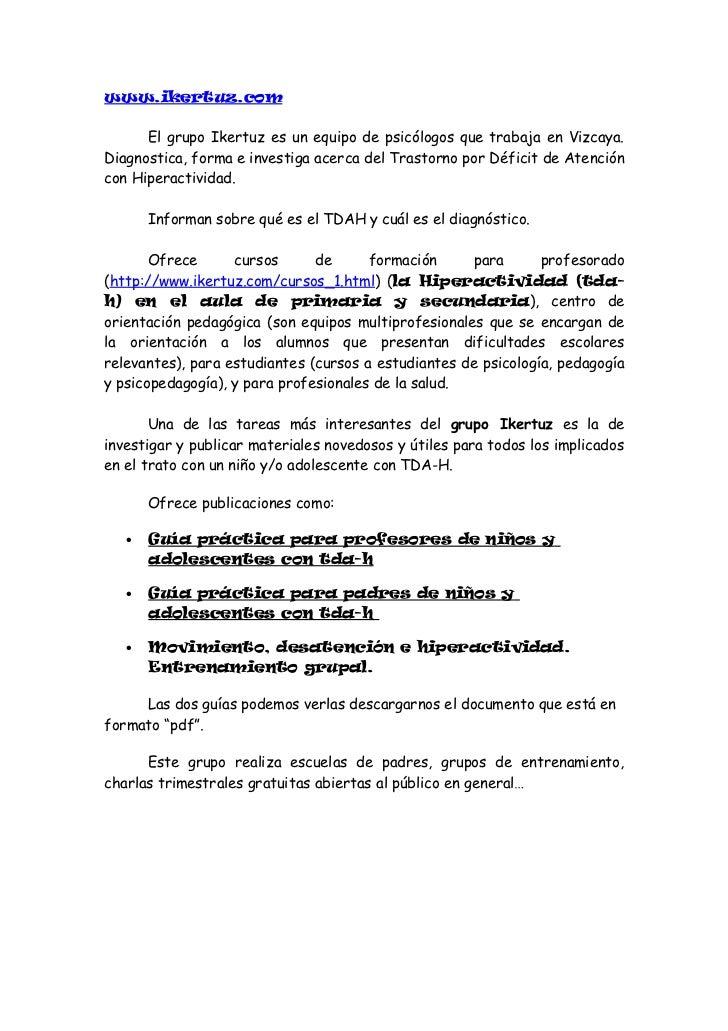 www.still-tdah.com      Asociación balear de padres de niños con trastorno de déficit deatención con y sin hiperactividad ...