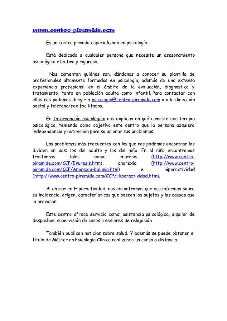 www.ceril.cl      Es un portal dedicado a padres, educadores y profesionales del área.       En la página principal viene ...